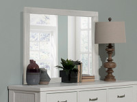Seaview Landscape Mirror - White