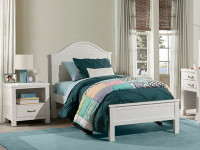 Seaview Arch Bed Twin - White