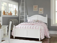 Lakeview Poster Bed Full - White