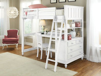Lakeview Loft Bed Twin - White