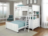 Lakeview Loft Bed Twin over Full - White