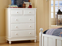 Lakeview 5 Drawer Chest - White