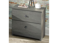 Rustic Brushed Pine Night Stand - Grey