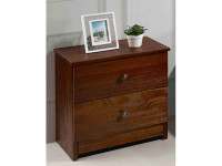 Rustic Brushed Pine Night Stand - Chestnut