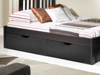 Solid Pine Underbed Storage Drawers - Espresso