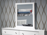 Solid Pine Mirror - Chalk