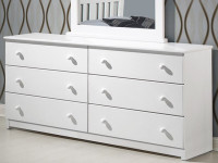 Solid Pine Double Dresser - White