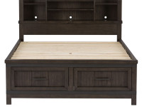 Farmhouse Bookcase Bed - Queen