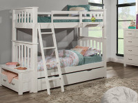 Seaview Bunk Bed Twin over Twin - White - Floor Sample
