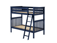 Bedroom Basics Bunk Bed Twin/Twin with Angled Ladder