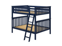 Bedroom Basics Bunk Bed Full/Full with Angled Ladder