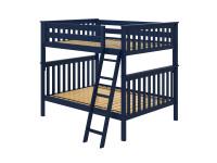 Bedroom Basics Bunk Bed Full/Full with Angled Ladder