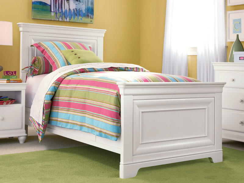 9a6178065610 Taylor Panel Bed - White - Bedroom Source