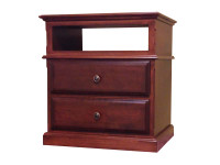 Nightstand - 2 Drawer + Open