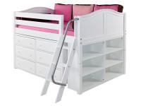 Low Loft Storage Bed
