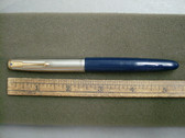 PARKER 51 VAC-FILL CEDAR BLUE FOUNTAIN PEN