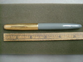 PARKER 51 VAC-FILL DOVE GREY FOUNTAIN PEN GOLD FILLED