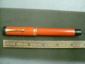 PARKER DUOFOLD SR FOUNTAIN PEN ORANGE PERMANITE