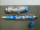 MONTEGRAPPA LUXOR BLUE NILE SILVER .925 LIMITED EDITION FOUNTAIN PEN