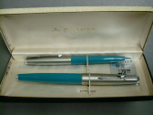 Parker 61 Fountain Pen & Pencil Set New In Box With Tags Turquoise