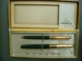 Parker 61 Fountain Pen & Pencil Set In box Charcoal Grey