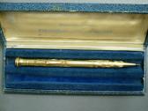 Vintage Wahl Eversharp Solid 18K Gold Engraved Mechanical Pencil