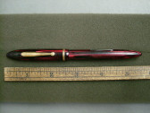 SHEAFFER BALANCE FOUNTAIN PEN CARMINE COLOR