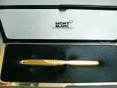 Montblanc Meisterstuck 144G Gold Plated Fountain Pen Beautiful In Box!!
