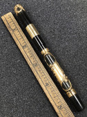 Vintage PARKER 33 Eyedropper Filigree Overlay Fountain Pen W 14K Solid Cap Band