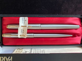 PARKER 61 FLIGHTER DE LUXE FOUNTAIN PEN & PENCIL SET NEW IN BOX