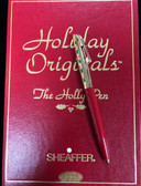 "SHEAFFER TRIUMPH HOLIDAY ORIGINALS ""THE HOLLY PEN"" BALLPOINT FROM 1996 NEW IN BOX"