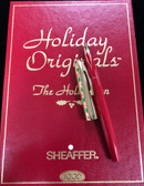 "SHEAFFER TRIUMPH HOLIDAY ORIGINALS ""THE HOLLY PEN"" FOUNTAIN PEN FROM 1996 NEW IN BOX"