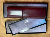 MONTBLANC 2 PEN TUBE STYLE LEATHER PEN CASE NEW IN BOX