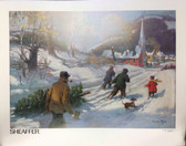 SHEAFFER WINTER OUTING LIMITED EDITION POSTER