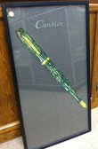 CONKLIN FRAMED GLASS STORE DISPLAY