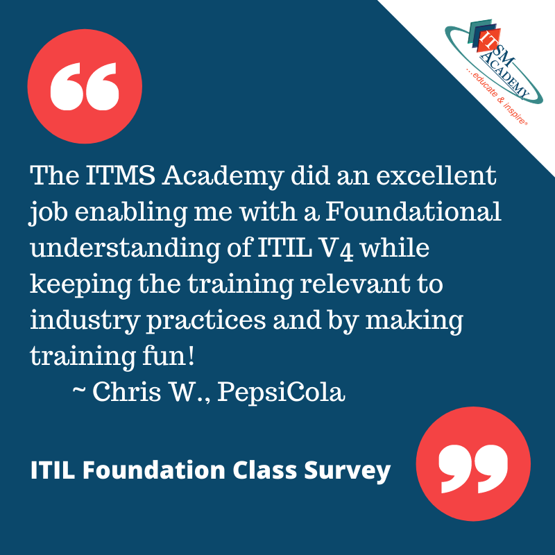 ITIL 4 Foundation Quote