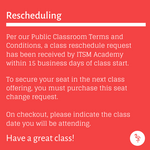 Public Class Reschedule Seat Confirmation