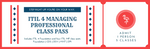 ITIL 4 Managing Professional Training Pass