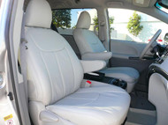 Sienna Clazzio Seat Cover All Light Grey Leather
