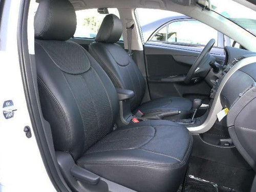 Corolla Clazzio Seat Covers All Black Front Seats