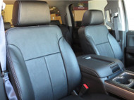 Chevrolet Silverado Leather Seat Covers All Black (Front)