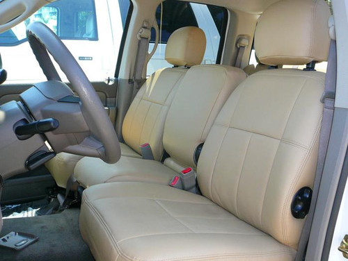 Dodge Ram - Clazzio Seat Covers - All Beige Front
