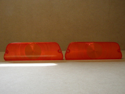 AMBER LENSES, FITS 1970-1971 Dodge D100, D200, D300 lenses have the Penstar but also has some imperfections in the pouring of plastic SOLD AS SET