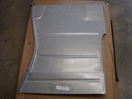 Passenger side floor pan without cab mount hole and indentation, made in the USA and with 18 guage metal