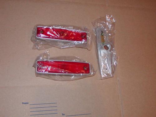 Set of Red side marker lens 64-70 A100 Van & 71-77 Dodge Vans