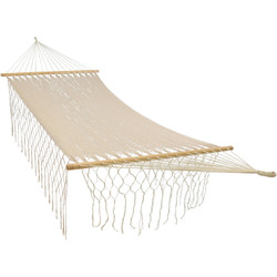 Sunnydaze American Style Mayan Hammock with Spreader Bar - Natural