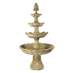 Sunnydaze 4-Tier Grand Courtyard Fountain - Earth Color