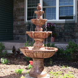 Sunnydaze 4-Tier Pineapple Fountain