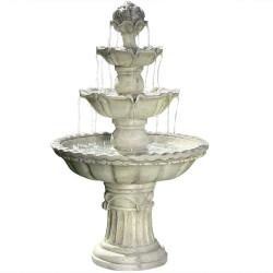 Sunnydaze 4-Tier White Fountain with Fruit Top
