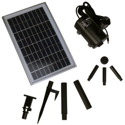 Sunnydaze Solar Pump and Solar Panel Kit With 2 Spray Heads, 200 GPH, 80-Inch Lift